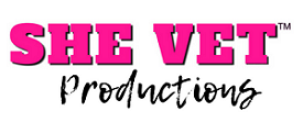 SHE VET, iNC. Media Productions Logo